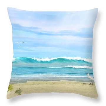 Oceanic Landscape Throw Pillow