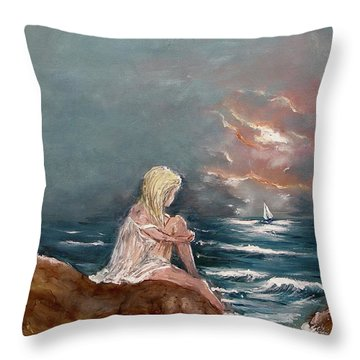 Oceanic Relaxation Throw Pillow