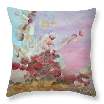 Ocean's Draw Throw Pillow by Jeni Bate