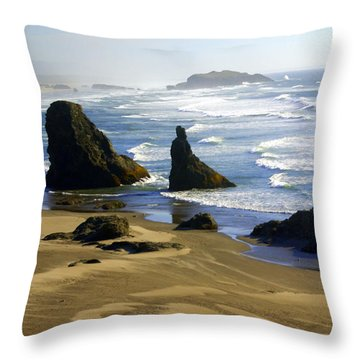 Oceanscape Throw Pillow by Marty Koch
