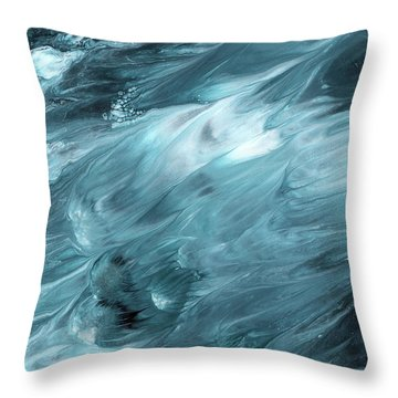 Oceanside 2- Art By Linda Woods Throw Pillow