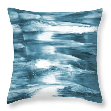 Oceanside- Abstract Art By Linda Woods Throw Pillow