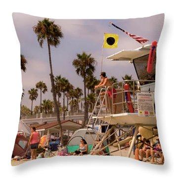 Oceanside Beach Throw Pillow