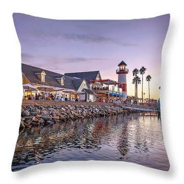 Oceanside Harbor Throw Pillow by Ann Patterson