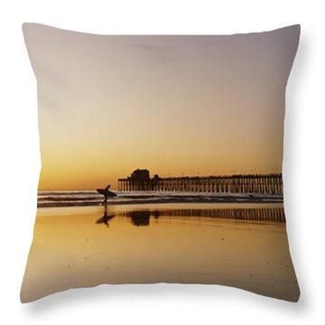 Oceanside Pier, California Throw Pillow by Bill Schildge - Printscapes
