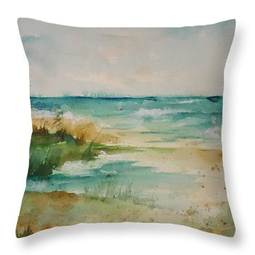 Oceanside Throw Pillow by Robin Miller-Bookhout