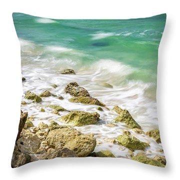 Oceanside In Trelawny, Jamaica Throw Pillow