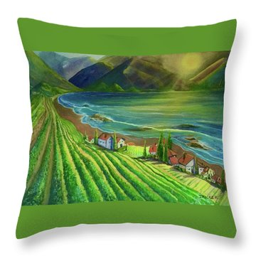 Sunset Vineyard  Throw Pillow