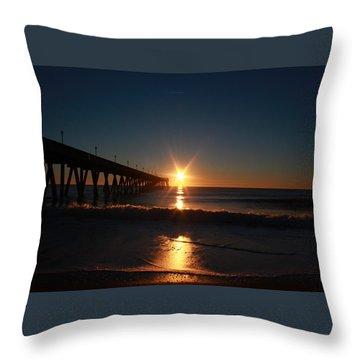 Oceanview Sunrise Throw Pillow
