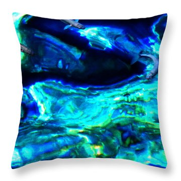 Throw Pillow featuring the photograph Ocean Reflections  by Colette V Hera  Guggenheim