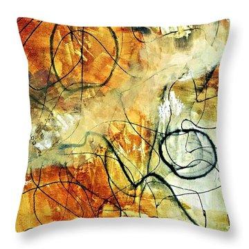 Ochre 43 Throw Pillow by Shelley Graham Turner