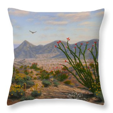 Ocotillo Paradise Throw Pillow