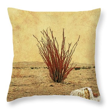 Ocotillo - The Desert Coral Throw Pillow