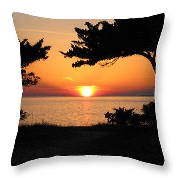 Ocracoke Island Winter Sunset Throw Pillow