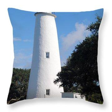 Ocracoke Light Throw Pillow