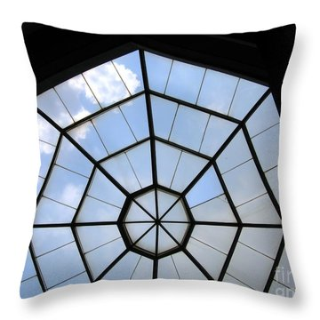 Octagon Skylight Throw Pillow by Yali Shi