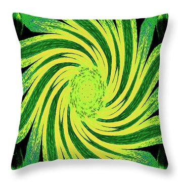 Throw Pillow featuring the digital art Octagonal Painting Put Into Motion by Merton Allen