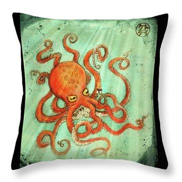 Octo Tako With Surprise Throw Pillow