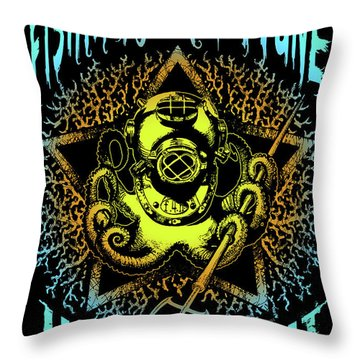 Octo Throw Pillow by Tony Koehl