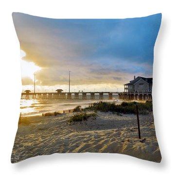 October 3 2016 Obx Sunrise Throw Pillow