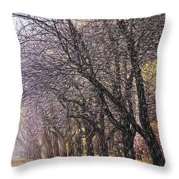 October 3 Throw Pillow