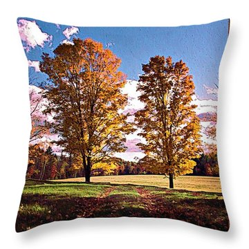 October Afternoon Beauty Throw Pillow