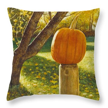 October Afternoon Throw Pillow