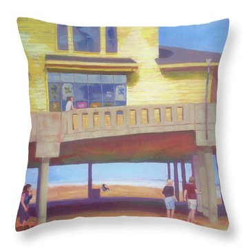 October At Johnnie Mercer's Throw Pillow by Carol Strickland