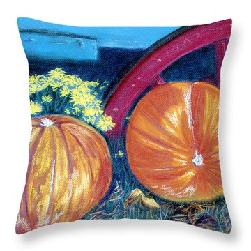 Throw Pillow featuring the pastel October Colors by Jan Amiss