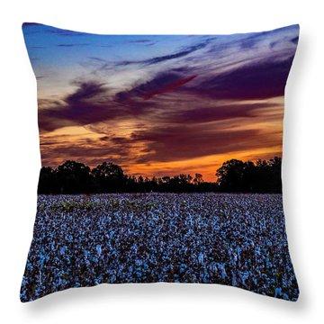 October Cotton Throw Pillow