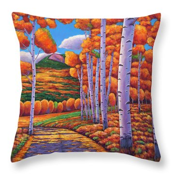October Enclave Throw Pillow