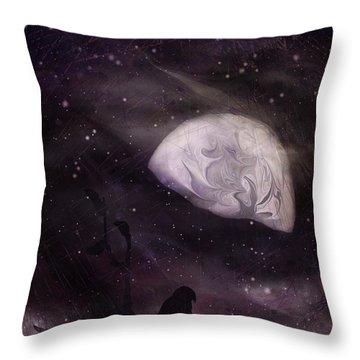 October Eve Throw Pillow