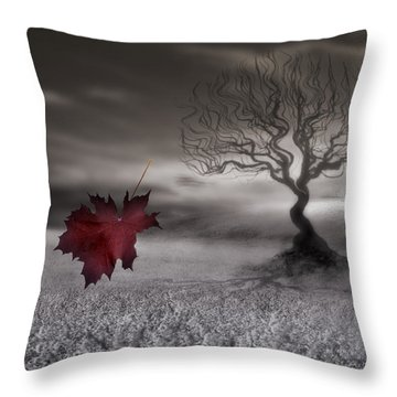 October Fades Throw Pillow