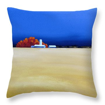 October Fields Throw Pillow