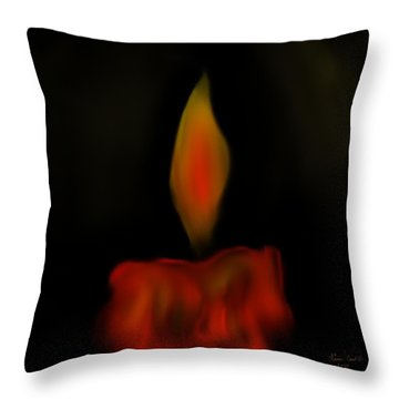 Throw Pillow featuring the painting October Flame by Kevin Caudill
