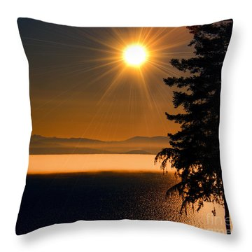 October Fog Throw Pillow
