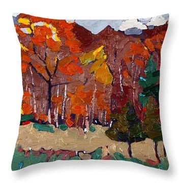 October Forest Throw Pillow