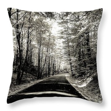 October Grayscale  Throw Pillow