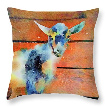 October Kid Throw Pillow by Michele Ross