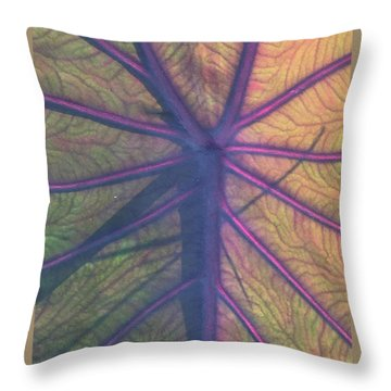 Throw Pillow featuring the photograph October Leaf by Peg Toliver