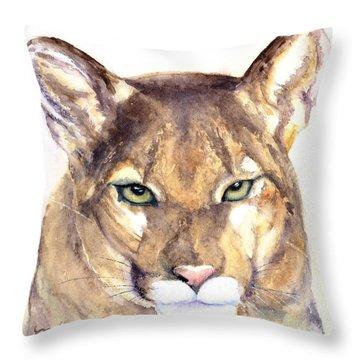 October Lion Throw Pillow