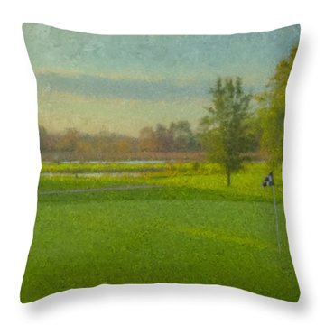 October Morning Golf Throw Pillow