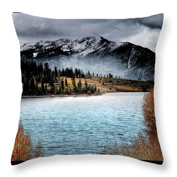 October Morning Throw Pillow by Jim Hill