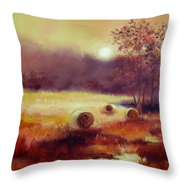 October Pasture Throw Pillow by Ginger Concepcion