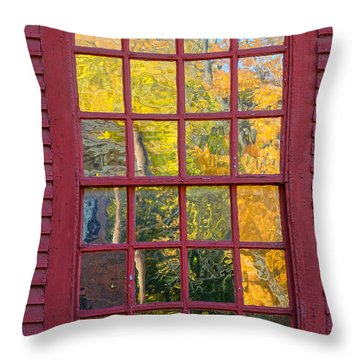 October Reflections 2 Throw Pillow