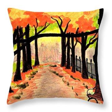 October- Salem Common Throw Pillow