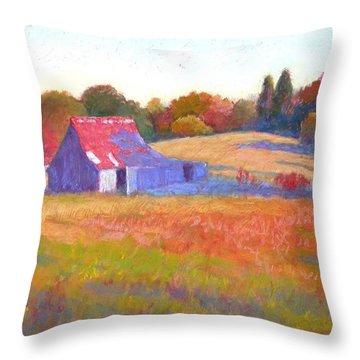 October Shadows Throw Pillow by Julie Mayser