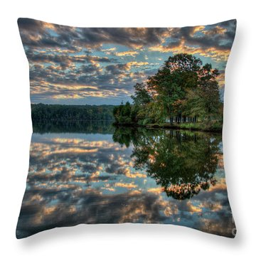 Throw Pillow featuring the photograph October Skies by Douglas Stucky