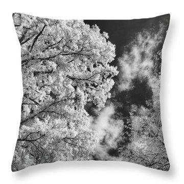October Sky Ir Throw Pillow