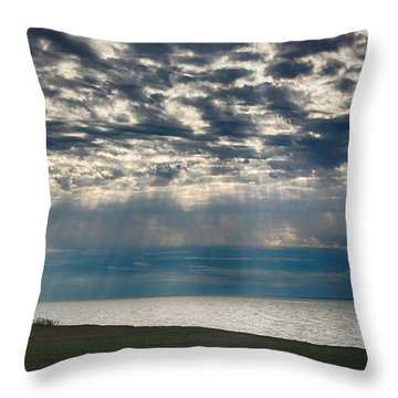 Throw Pillow featuring the photograph October Sky by William Selander